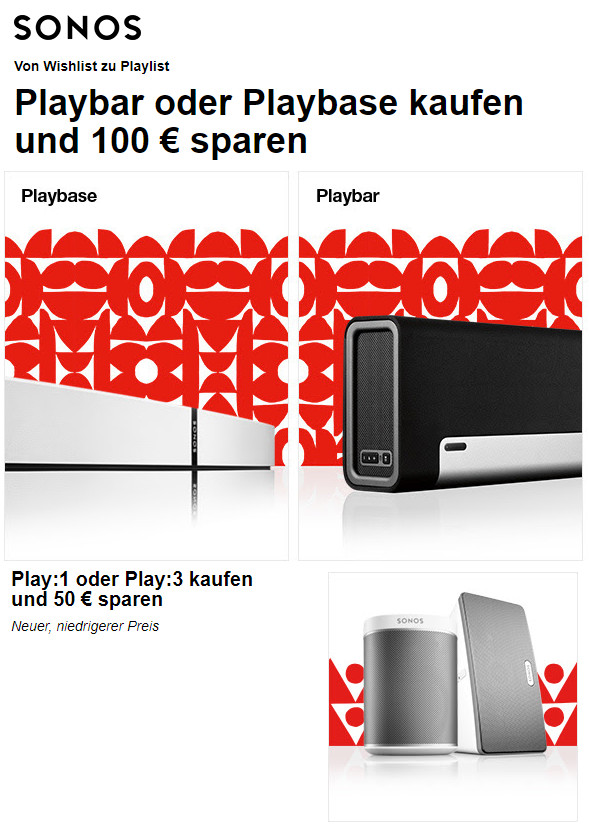 Sonos Playbase Playbar Oder Play1 Play3